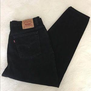 Vintage Levis 550 black high rise mom Jeans
